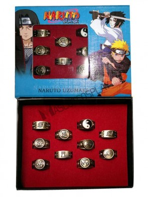 Naruto Coppery Alloy Anime Ring Set