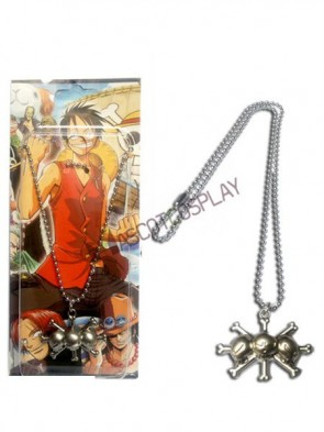 One Piece Silver Alloy Anime Pendant Necklace