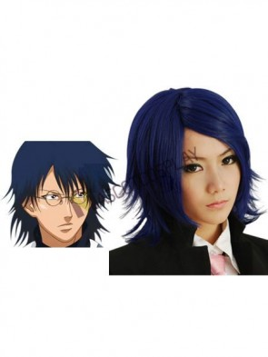Deep Blue The Prince Of Tennis Oshitari Yush Cosplay Wig
