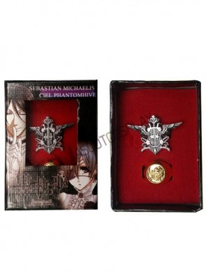 Black Butler White Alloy Anime Ring Set