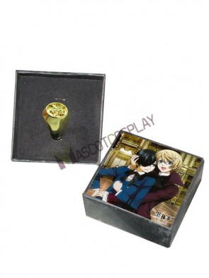 Black Butler Golden Alloy Anime Ring