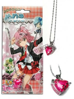 Shugo Chara Pink Alloy Anime Pendant Necklace