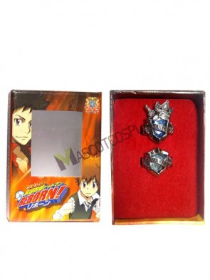 Katekyo Hitman Reborn Varia Blue Alloy Cosplay Ring Lover Set