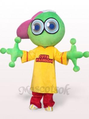 Green Big Head Frog Plush Adult Mascot Costume