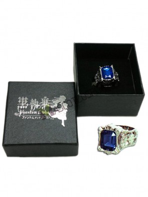 Black Butler Cosplay Sapphire Ring