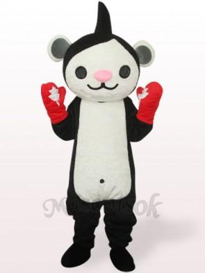 Black Miga Plush Adult Mascot Costume