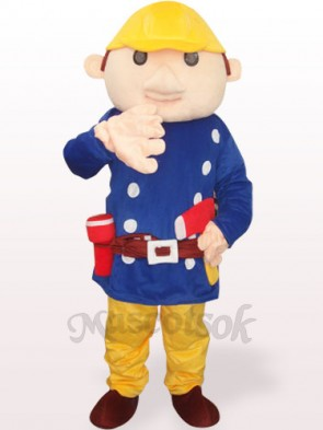 Blue Baboo Engineer Plush Adult Mascot Costume
