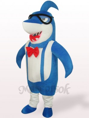 Blue Big Head Shark Plush Adult Mascot Costume