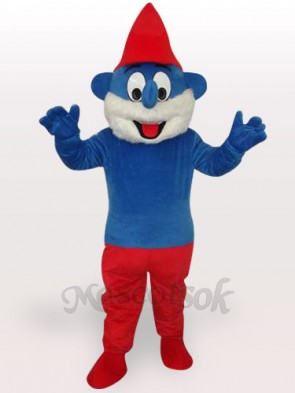 Blue Spirit Short Plush Adult Mascot Costume