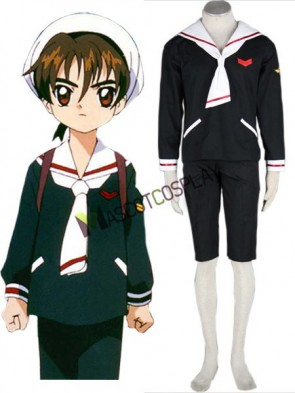 Card Captor Sakura 65% Cotton 35% Polyester Boys Winter Cosplay Costume Outfit