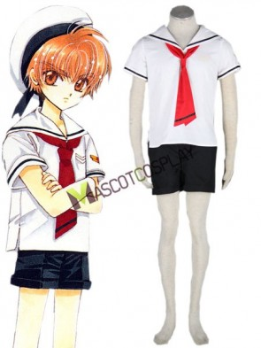 Card Captor Sakura 65% Cotton 35% Polyester Boys Summer Cosplay Costume Outfit