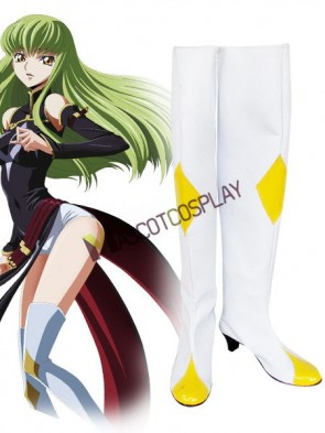 Code Geass C.C. Imitated Leather Rubber Cosplay Shoes