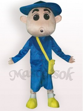 Crayon Shin-chan With Hat Short Plush Adult Mascot Costume