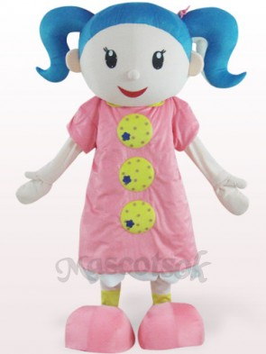 Cute Girl Plush Adult Mascot Costume