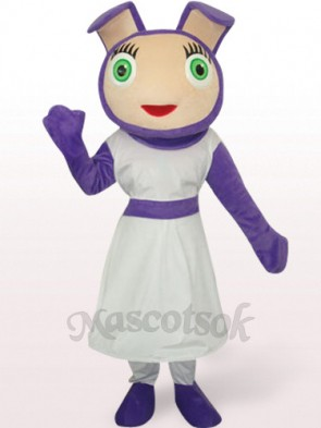 Cute Purple Plush Mascot Costume