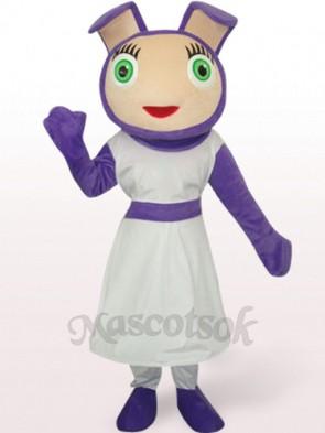Cute Purple Plush Mascot Costume