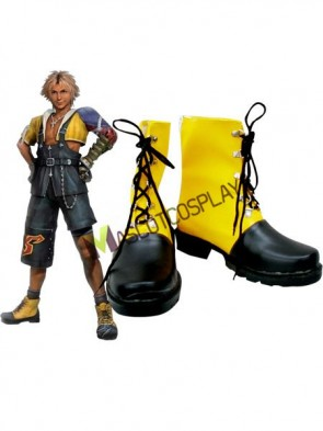 Final Fantasy Tidus Imitated Leather Rubber Cosplay Shoes