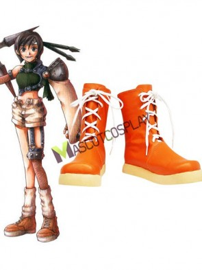 Final Fantasy Yuffie Imitated Leather Foam Cosplay Shoes