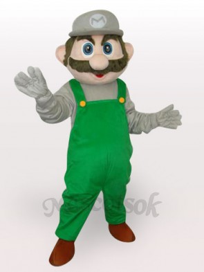 Green Super Mario Bros Short Plush Adult Mascot Costume