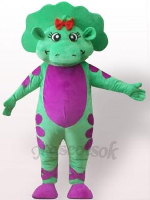 Green Dinosaur Plush Adult Mascot Costume