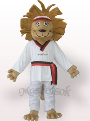 Happy Lion Plush Adult Mascot Costume