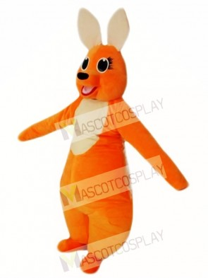 Orange Kangaroo Mascot Costume