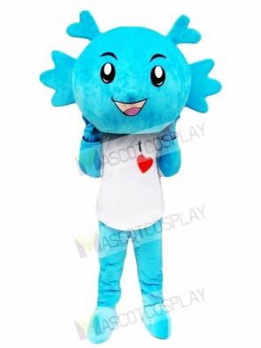 Blue Dragon Mascot Costume