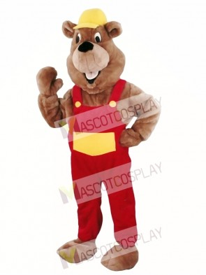 Beaver Mascot Walking Act Promotion Costume
