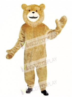 Ted Jumpsuit Bear Mascot Costume