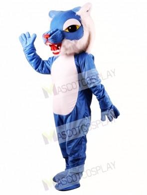 Blue Wildcat Power Cat Mascot Costume
