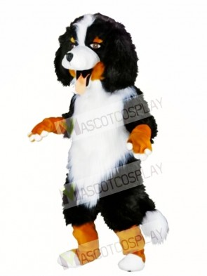 White and Black Sheep Dog Mascot Costume