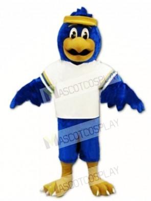 Blue Falcon Mascot Costume Character Eagle Bird