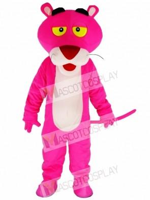 Cartoon Pink Panther Mascot Costume