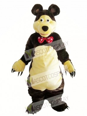 Gentle Brown Bear Mascot Costume