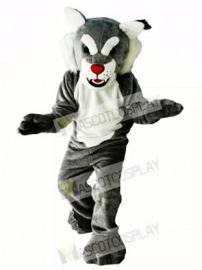 Grey Power Cat Wildcat Mascot Costume Animal