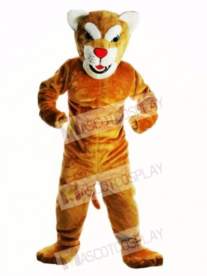 New Power Leopard Panther Cat Cougar Mascot Costume