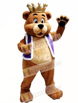 King Billy Bob Bear Mascot Costume