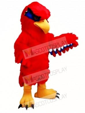New Red Hawk Mascot Costume