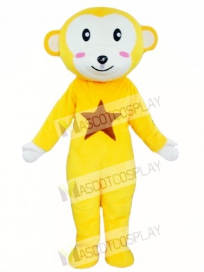 Yellow Monkey Mascot Costume