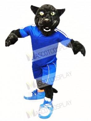Black Sport Panther Mascot Costume