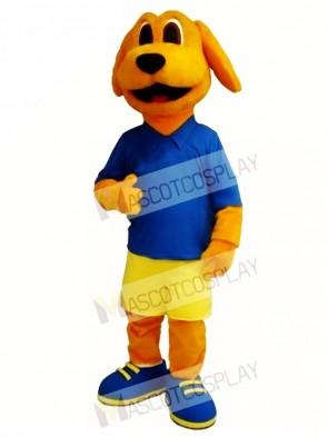 Cute Golden Dog Mascot Costume