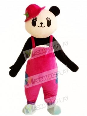 Cute Panda Red Hat Mascot Costumes
