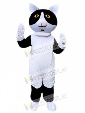 Black White Cat Mascot Costume