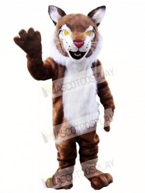 Brown Wildcat Bobcat Mascot Costume