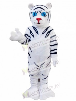 White Tiger Cartoon Mascot Christmas Costume