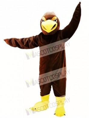 Brown Hawk Mascot Costume