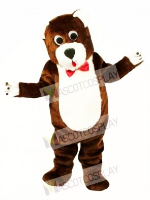 Grentle Brown Teddy Bear Mascot Costume Animal Costume