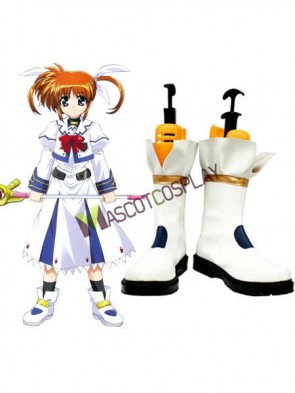 Magical Girl Nanoha Imitated Leather Rubber Cosplay Shoes