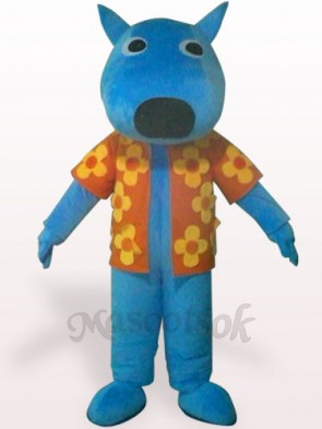 Male Dog Plush Adult Mascot Costume