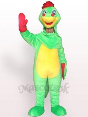 Open Face Dinosaur Plush Adult Mascot Costume